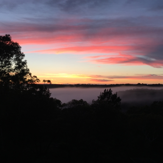 Dawn over Mount Kuringgai