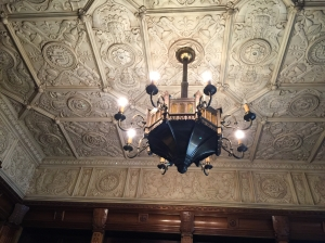 Ceiling and Chandelier