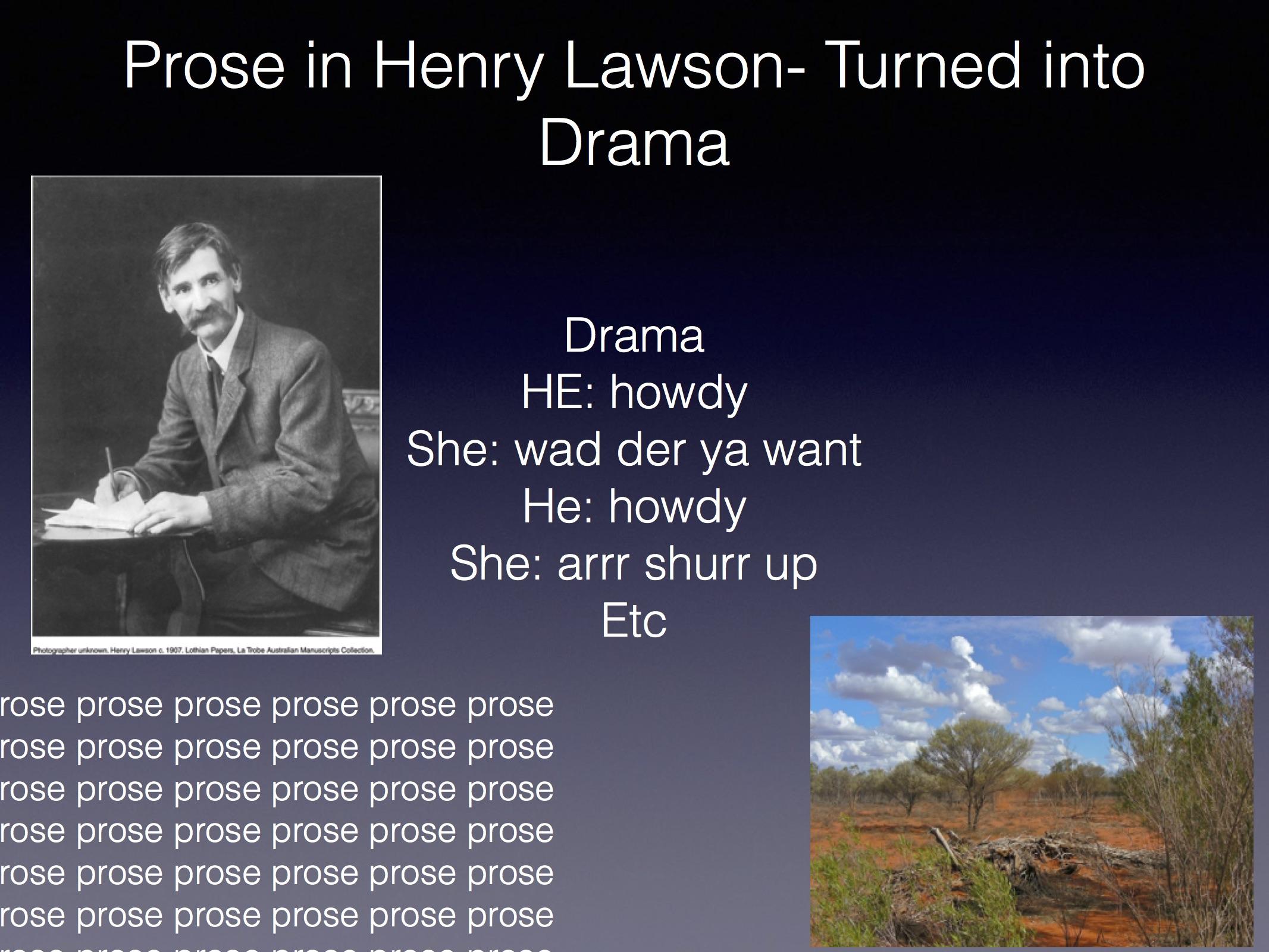 henry lawson essay short stories