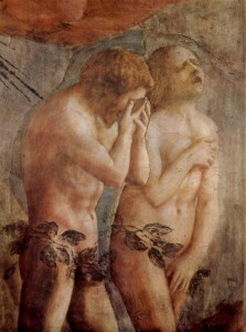 Adam and Eve and the ire in the Cave with Satan