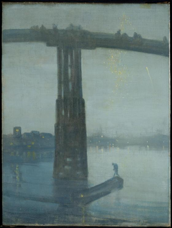 Nocturne: Blue and Gold - Old Battersea Bridge c.1872-5 by James Abbott McNeill Whistler 1834-1903