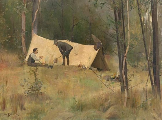 the-artists-camp-by-tom-roberts-1886
