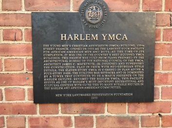 Harlem YMCA Plaque