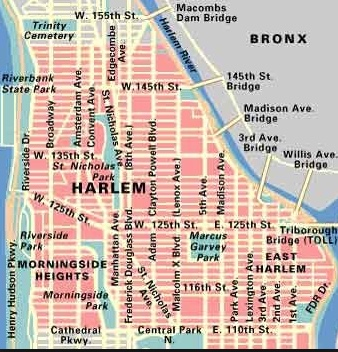 Map of Harlem