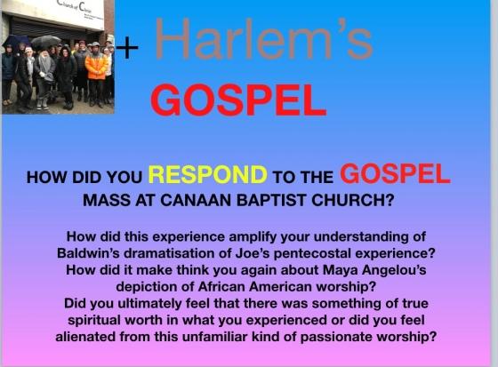 harlem gospel question